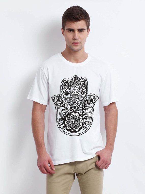 hamsa hand of fatima men tshirt white size for men by verstay
