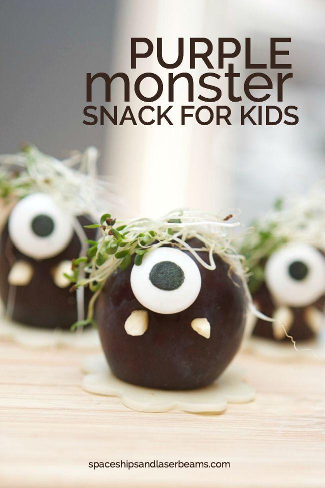 Purple Monster Snacks for Kids