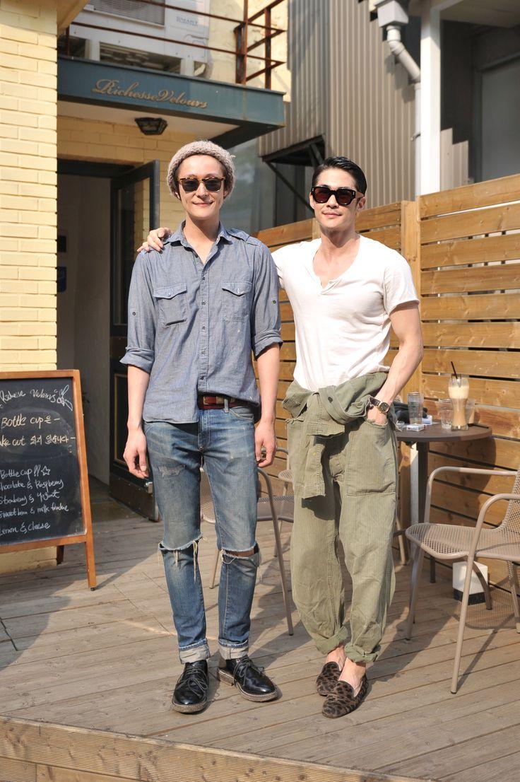 My best friend and I as boys (Model Hwi Hwang , Bae Jeong Nam)