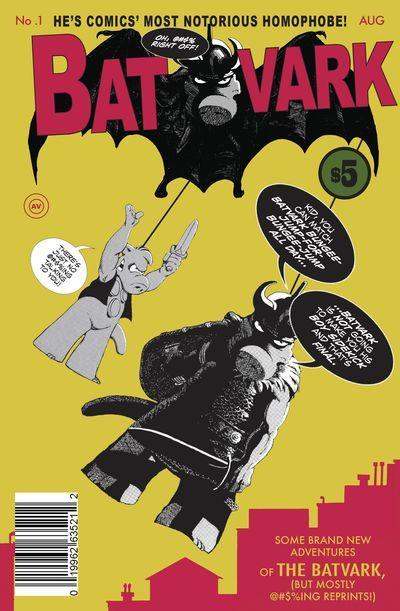 Batvark #1  Two-part 'Secret Origin of Batvark'; 'Batvark's Credo' and finally an answer to 'Is Batvark a Homophobe?' Plus reprints of the earliest Cerebus in Hell?   via @AnotherUniverse.com  https://anotheruniverse.com/batvark-1