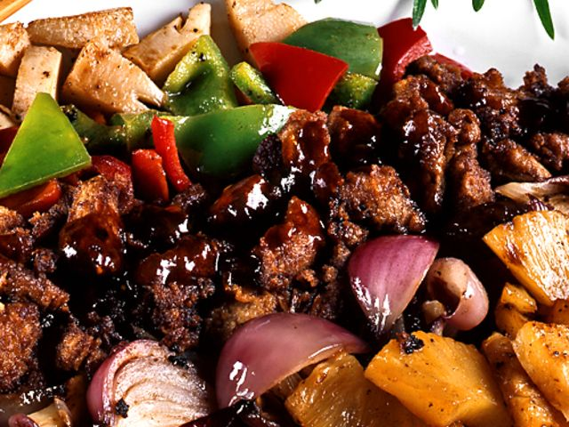 Kinesisk biff med sötsur sås (kock recept.nu)