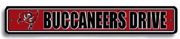 Tampa Bay Buccaneers NFL Street Sign