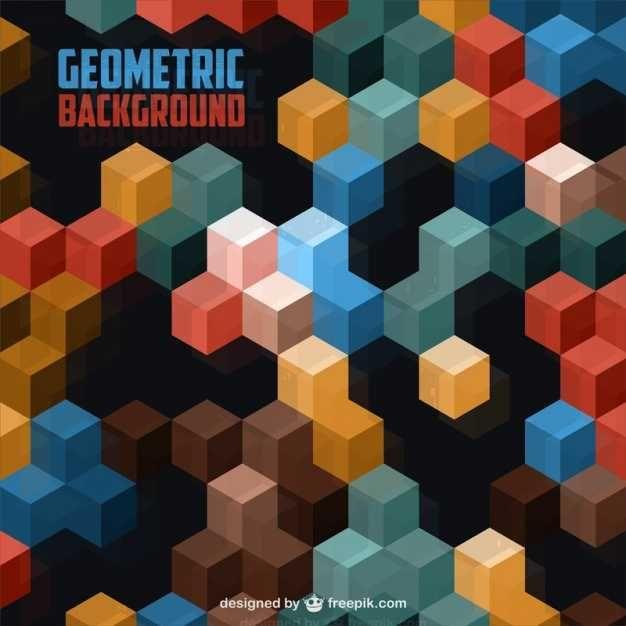 3d Geometric Background - FREE