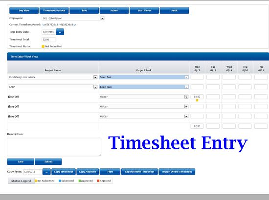simple online timesheet