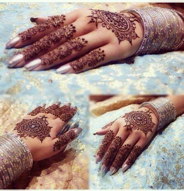 Bangles ,nail color and henna