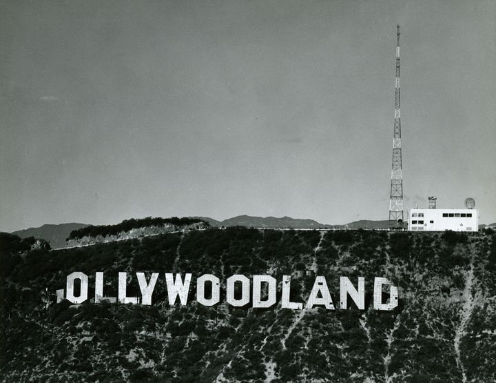 Hollywoodland Sign In Disrepair