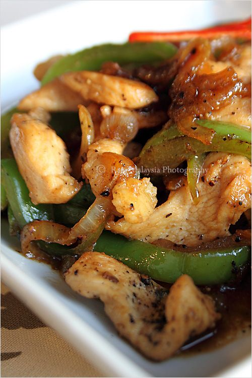 Black Pepper Chicken Recipe, only a few ingredients needed to make this wonderful dish. #chicken #blackpepper #recipe