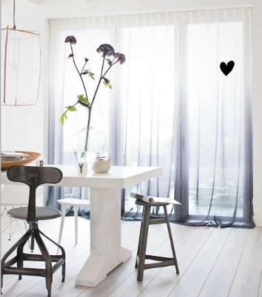 Would love these dip dyed curtains made of Linen by VT Wonen for my kitchen