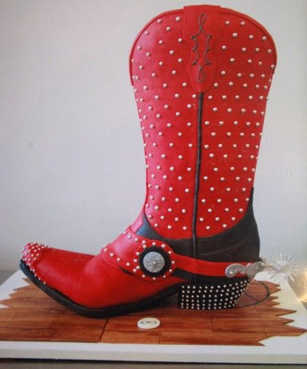 Cowboy boot cake decorated by Sylvia Weinstock - LOVE IT!!