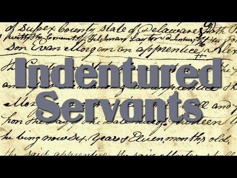 history indentured servant and new england Indentured servitude in the americas was a means  in southern new england, a variant form of indentured  this means the indentured servant chose to work for .
