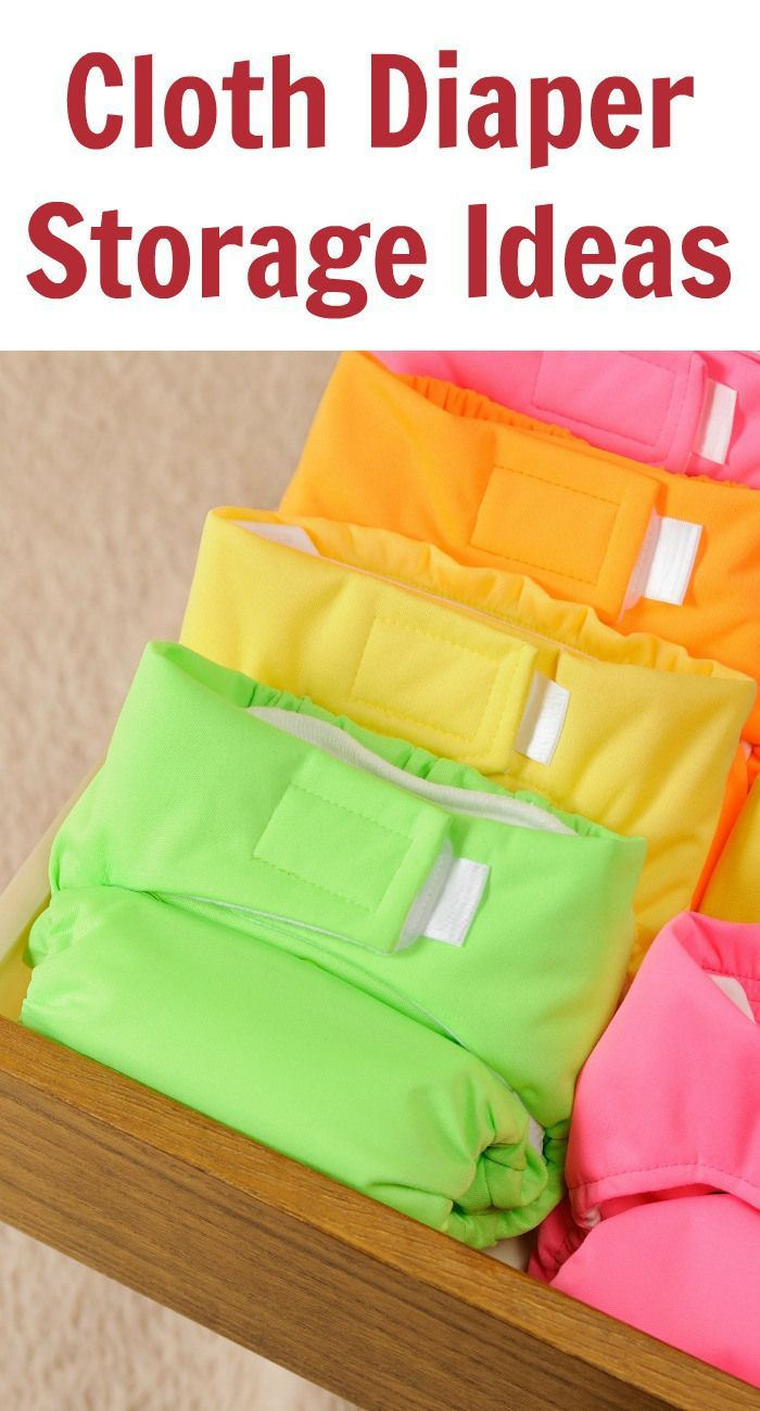 Cloth Diaper Storage Ideas