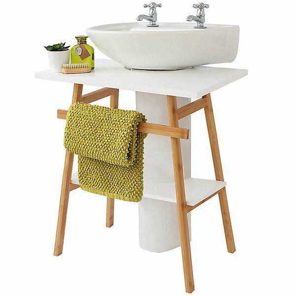 Kastner 60cm Free Standing Vanity Unit Base Under Pedestal Sink Storage Pedestal Sink Storage Vanity Units