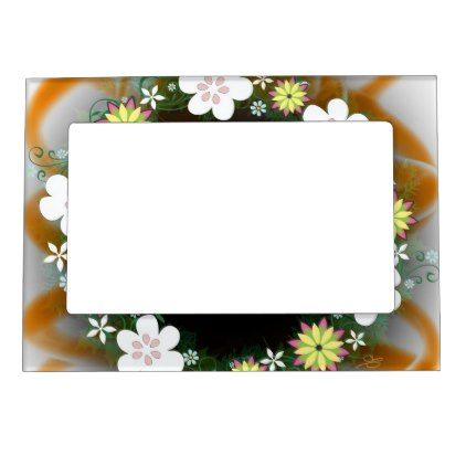 Wreath Wedding Flowers Floral Picture Photo Magnetic Picture Frame - photo gifts cyo photos personalize