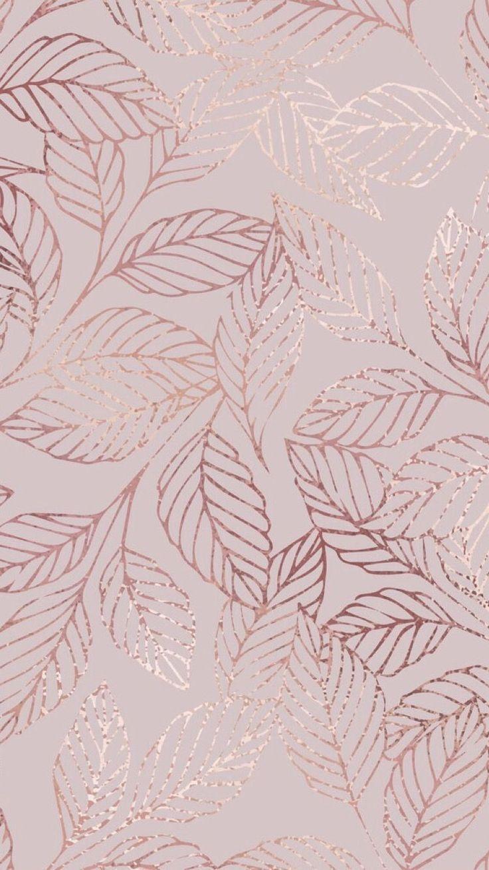Rose Gold Patterned Wallpaper