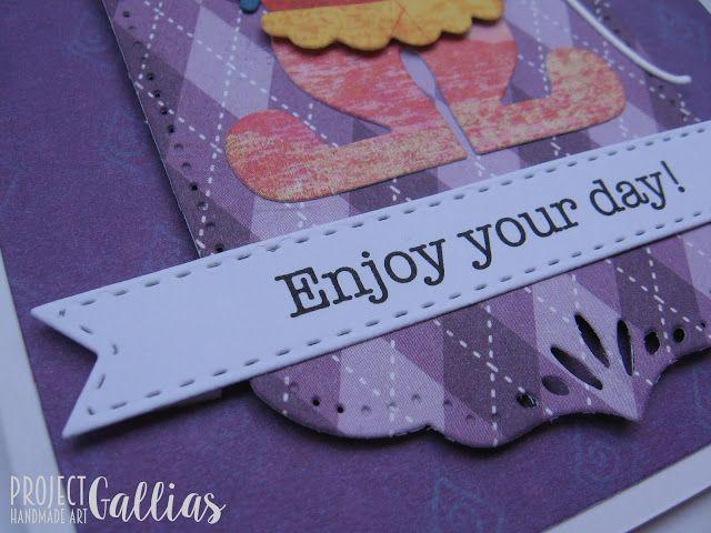 ProjectGallias: Wesoła i kolorowa kartka z klaunem! Idealna do dobry początek dnia! Enjoy your day! #projectgallias, kartka, klaun, cyrk, card, clown, circus