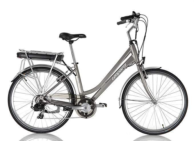 Leopard Railway City E Bike Pedelec Elektrofahrrad Damen 26 43 Cm 145cm 165cm Korpergrosse Silber Modell 2019 Amazon De Sp Elektrofahrrad Pedelec E Fahrrad