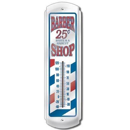 Barber Shop Indoor Outdoor Thermometer - Vintage Sign Shack