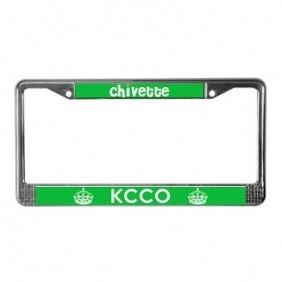 Chivette KCCO License Plate Frame @Devan Brennan Brennan Brennan Reed @Elaine Hwa Hwa Hwa West I want this!!