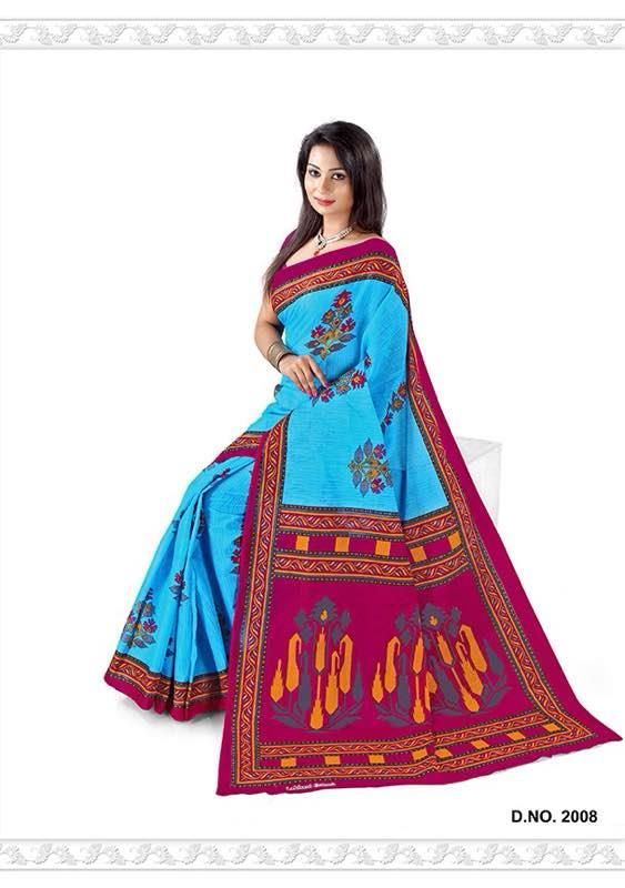 Buy Lakhani Cotton Saree Online at Best price in India