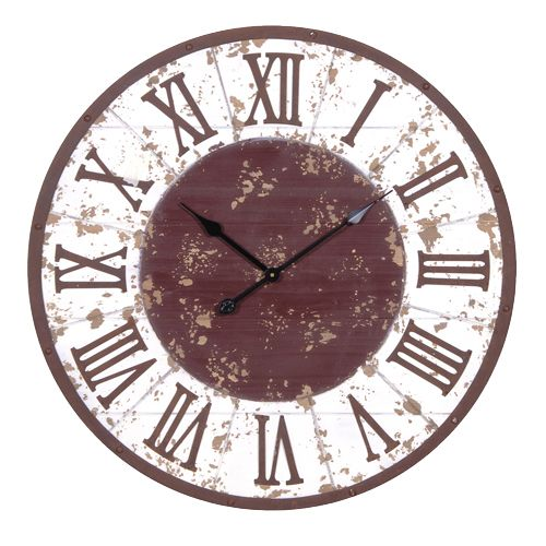 LARGE RUSTIC WALL CLOCK. Diam:755mm