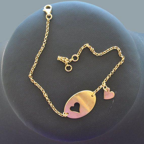 Love silver bracelet silver chain for by PlusLoveStudio on Etsy - 29.70euro