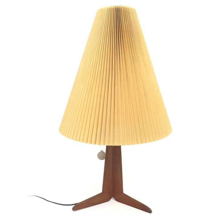 Le Klint Teak Table Lamp  | See more antique and modern Table Lamps at https://www.1stdibs.com/furniture/lighting/table-lamps