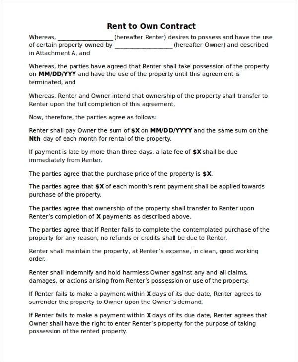 Amp Pinterest In Action Contract Template Contract Rental