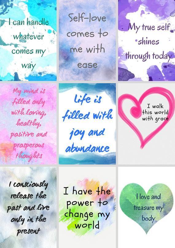 Printable Self Love Affirmation Cards Confidence Etsy Wealth Affirmations Self Love Affirmations Manifesting Money