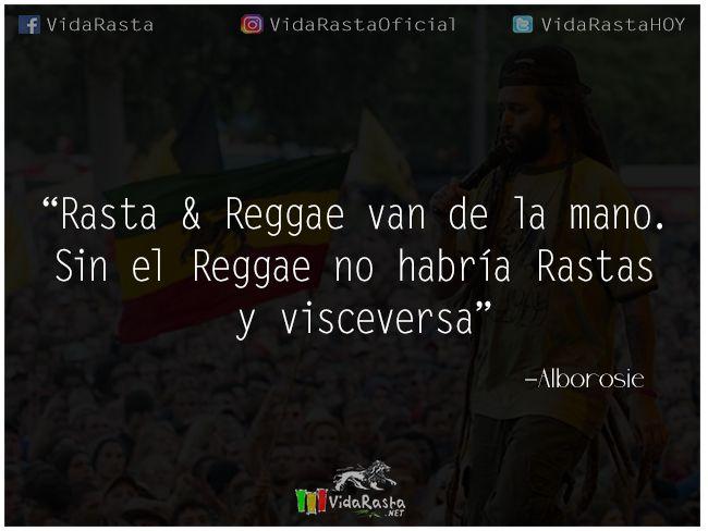 Rasta & Reggae van de la mano. Sin el Reggae no habría Rastas y visceversa – Alborosie  #Rasta #Reggae #FrasesReggae #Alborosie #FrasesRasta #FrasesAlborosie #Quotes