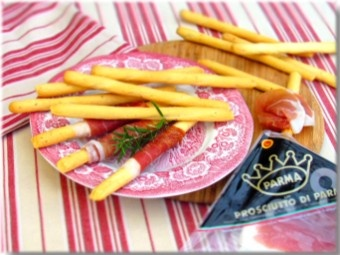 Breadsticks with Parma ham