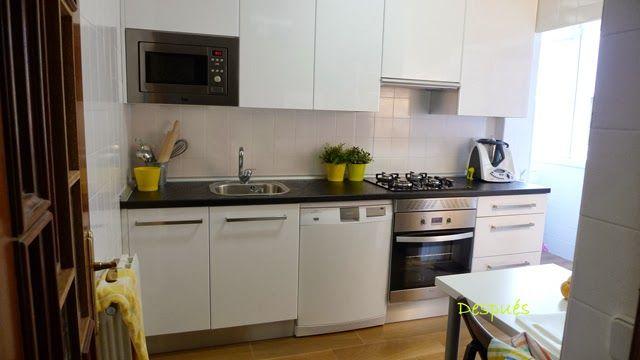 Antes y despu s la cocina de patricia despu s de pintar for Alternativa azulejos cocina