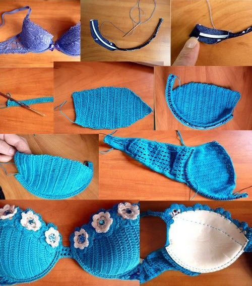 Breast size and secrets for a knitted swimsuit crochetWe knit a swimsuit for a s…