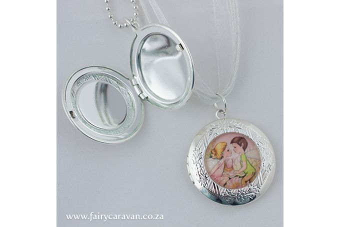Blushing Bride Fairies Locket by Fairy Caravan