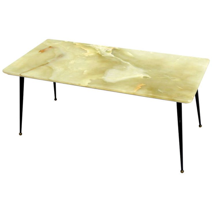 50s Italian Green Onyx Coffee Table Cocktails Furniture And Italian