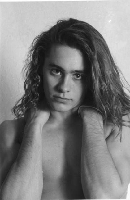 Young Jared Leto Shirtless with Long Hair
