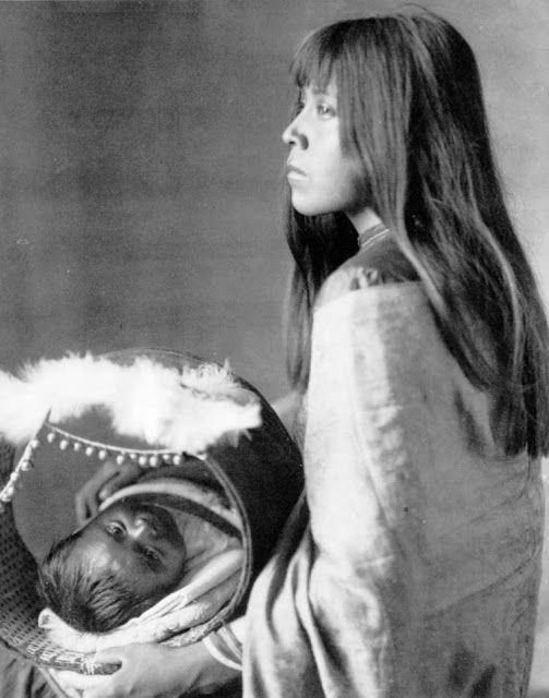 Young Yuma Woman with Child -- American Indian's History: California's Native American Yuma Indians