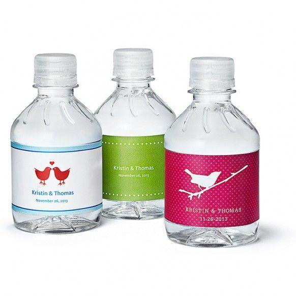Personalized Mini Water Bottles - Weddbook
