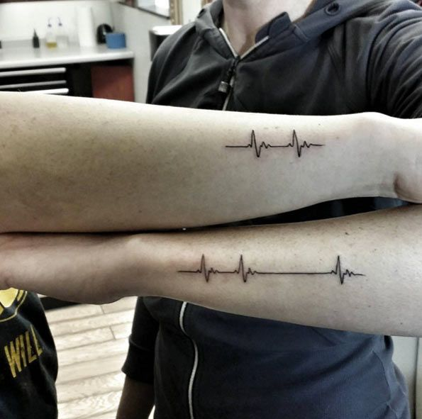 Heart Rate Sister Tattoos by Jeff Ward