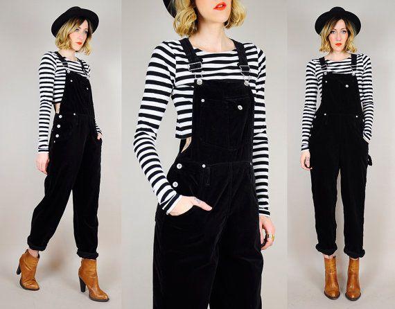 black overall pants - Pi Pants