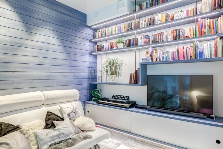 My library in my house in Espoo, Finland