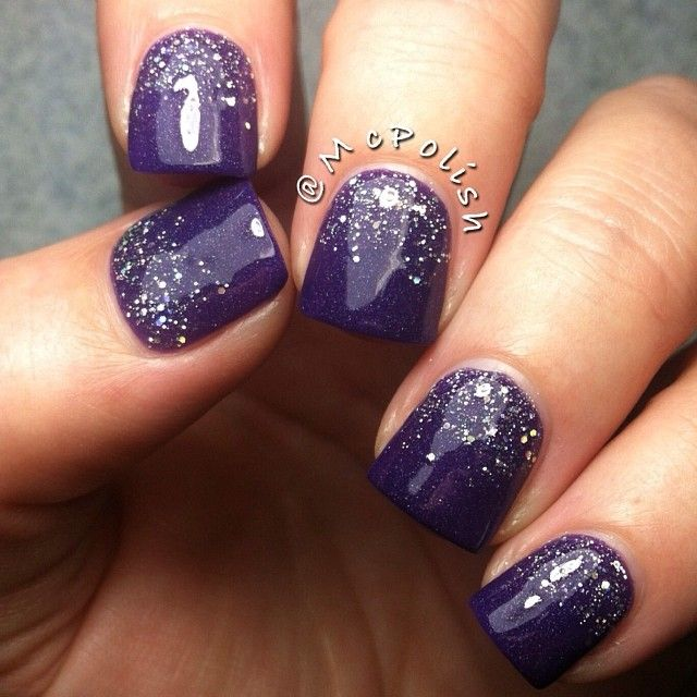 Purple Sparkle Mani!  Come to Luxury Spa & Nails for all of your pampering needs! Call (803) 731-2122 or visit www.luxuryspaandnails.weebly.com for more information!