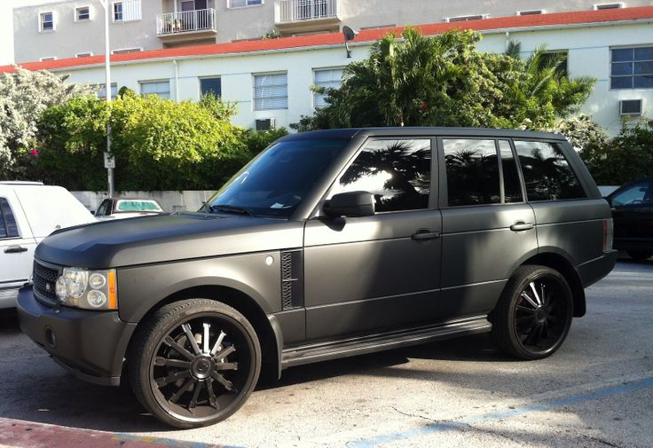 matte blacked out range rover the image kid has it. Black Bedroom Furniture Sets. Home Design Ideas