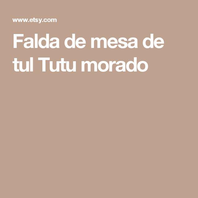 Falda de mesa de tul Tutu morado