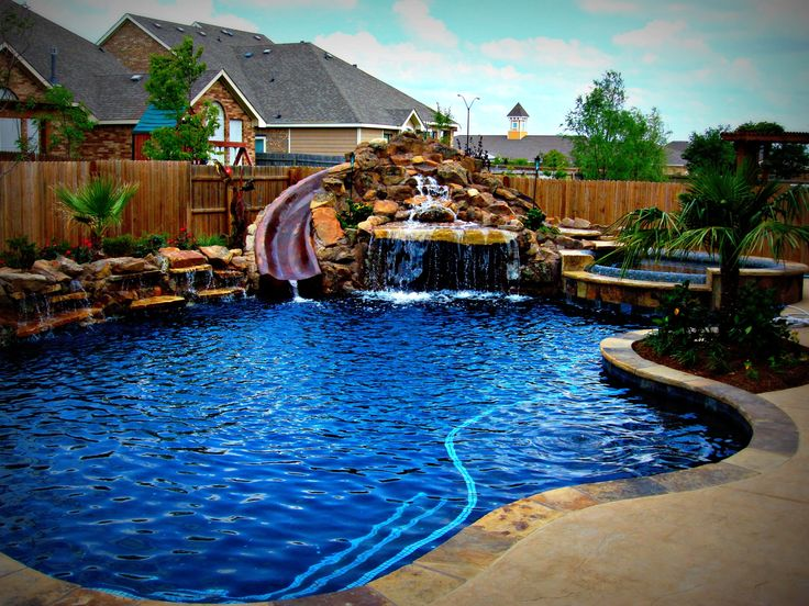 Freeform swimming pool examples by dallas fort worth for Custom swimming pool designs