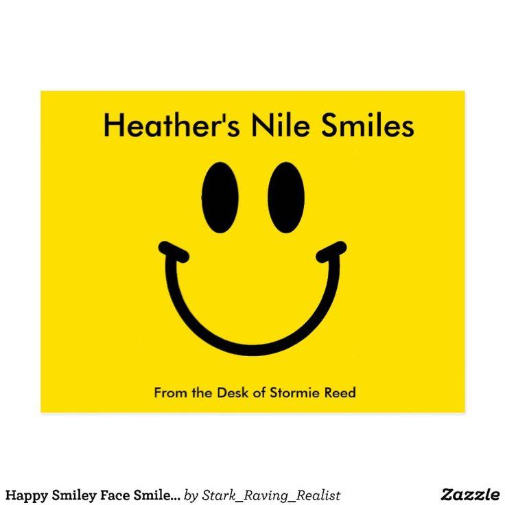 Happy Smiley Face Smile Yellow Postcard | Zazzle
