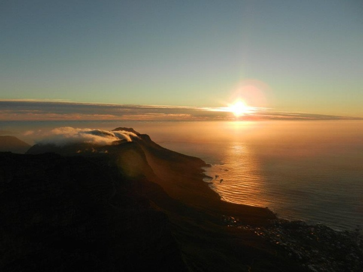 View from #TableMountain #Sunset #SouthAfrica