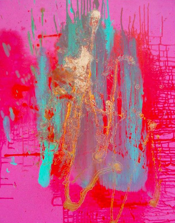 Large Pink Dusky  by Lorraine Carey (there is something about all these juicy colors that I love)