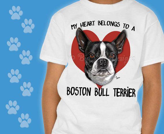 Customizable BOSTON BULL TERRIER Tshirt.  Choose your Style Bull Terrier Tee.  Dog Tshirt.  Bull Terrier Rescue T-Shirt.