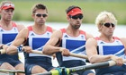 Alex Gregory, Pete Reed, Tom James and Andrew Triggs Hodge of Team GB in the Olympic men's four