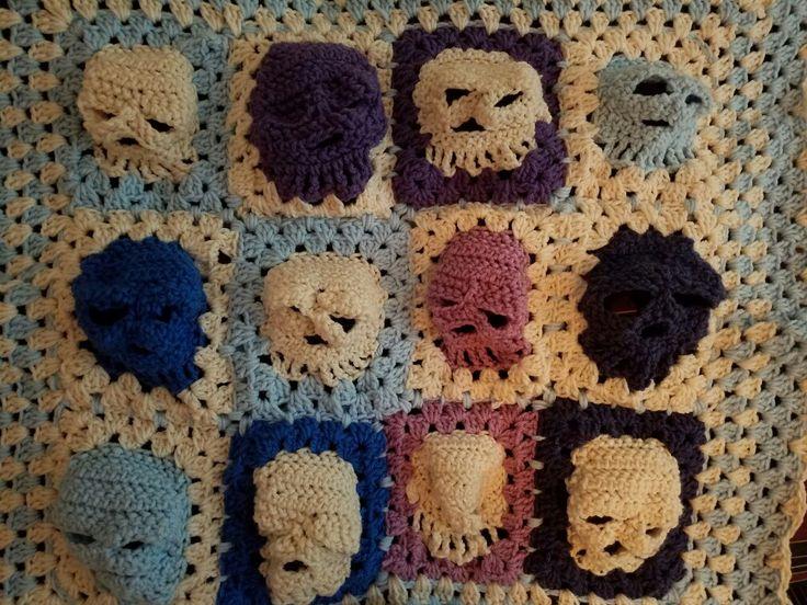 Skull baby blanket for Candy